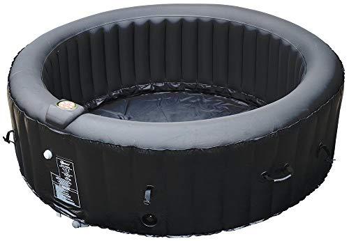 BeneoSpa Tragbarer aufblasbarer Whirlpool, Jacuzzi, für 4 Personen, 130 Massagedüsen, Schwarz