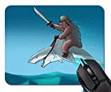 Mouse Pad,Animal Bear Riding A Shark Mouse Pad Rectangle Non-Slip Rubber Mousepad Office Accessories Desk Decor Mouse Pads for Computers Laptop