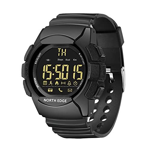 Yuwe North Edge Apache Relojes deportivos al aire libre para hombres Reloj de pulsera digital Reloj inteligente multifuncional Natación Relojes militares Altímetro Barómetro Brújula Impermeable 50 m p