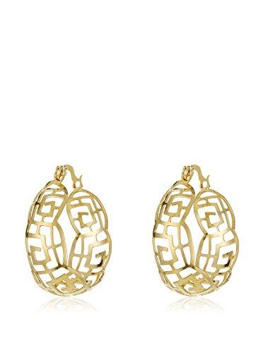 Córdoba Jewels | in Goldfilled Gold 14/20Laminat Design Ohrringe Kreolen Greca