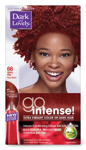 Dark & Lovely Go Hair Color 066 [Spicey Red] (Pack of 6)