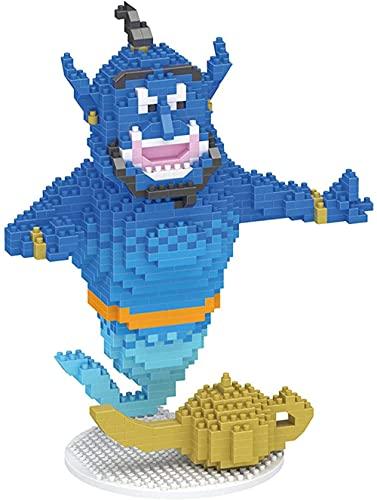 Baidefeng Mini Building Blocks Aladdin Magic Micro Diamond Building Block Classic Fairy Tale Imagen de Dibujos Animados Genie Toys Children 840 PCS