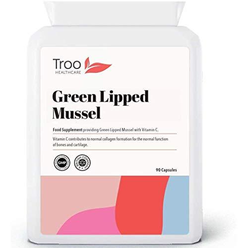 Extracto de Mejillón de Labio Verde, 500mg, 90Cápsulas–Alta calidad Nueva Zelanda, Suplemento para las articulaciones, Saludable Y Sistema Inmunológico