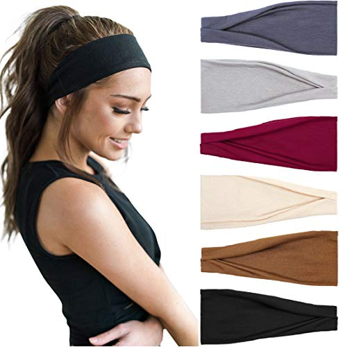 Huachi Women's Headbands Workout Yoga Exercise Headband Sweat Wicking Hair Bands