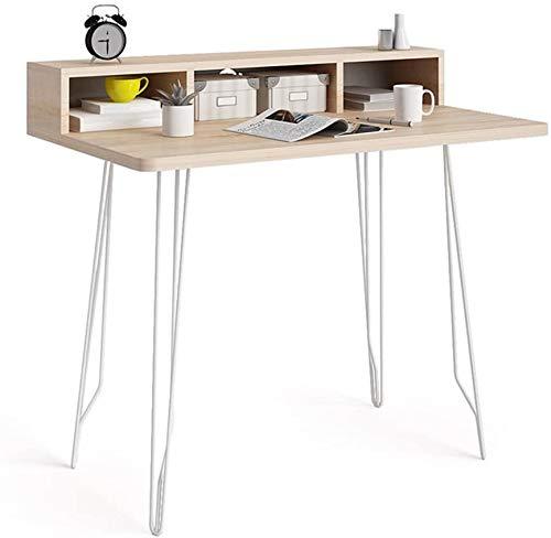 LQ Bureau Nordic Computer Home Utilisation Moderne Minimaliste Petit Art créatif Fer écriture Bureau Table 100 * 60 * 87.5cm