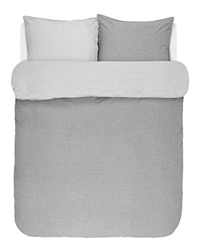 Marc O Polo Bettwäsche Washed Chambray Grey 1 Bettbezug 135 x 200 cm + 1 Kissenbezug 80 x 80 cm