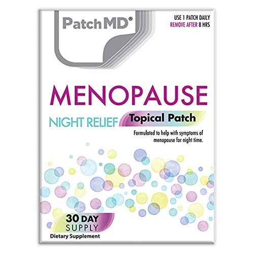 PatchMD Menopause Night Relief 30 Daily Topical Patches. 100% Natural & Vegan. Allergy & Filler Free. High Absorption and More bioavailable. Suitable for Sensitive stomachs & bariatric.
