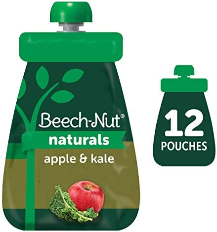 Beech Nut Naturals Stage 2 Baby Food Pouch Apple Kale 12 Count 3 5 oz Pouches product image