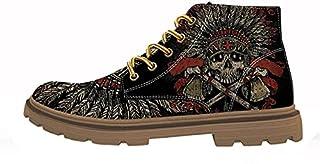حذاء رجالي من FIRST DANCE مطبوع عليه جمجمة مع هيكل عظمي باللون الأسود مقاس الولايات المتحدة 5. 5-US16)