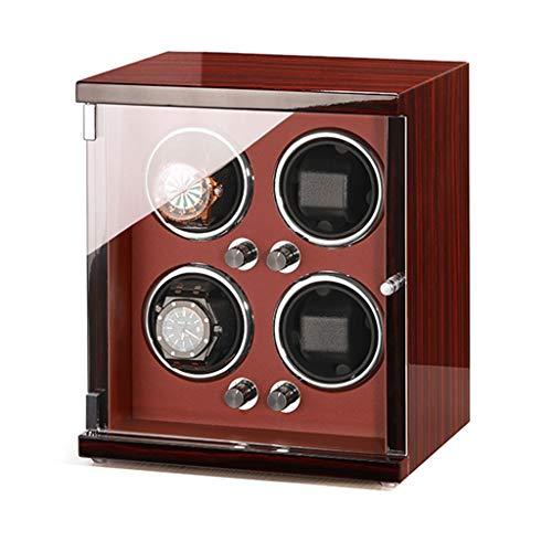 zyy Reloj de lujo, 5 modos, caja de visualización automática de reloj con motor silencioso, contiene almohada de reloj (color: A)