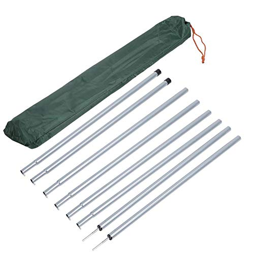 Vikye 8 Stück Zeltstange, Sonnensegel Stangen Zeltstange aus Verzinktem Eisen für Strandschutz, Campingzelt, Regenplane
