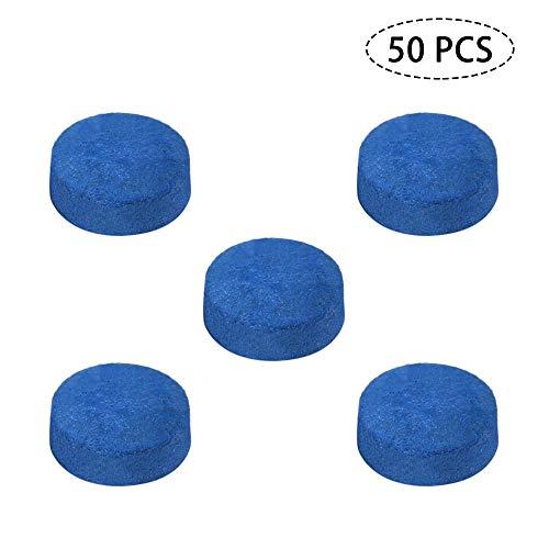 Godyluck 50 PCS Pool Queue Tipps Billard Queue Head 9MM / 10MM / 12MM / 13MM