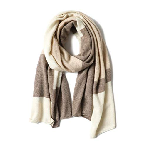 WCZ Winter Schal für Frauen Wraps Schal Damen Schal Knit Kaschmir-Schal-Schal-Damen Colorblock Plaid Literary Schal warm wild Schal neuen Jahr-Geschenk Geburtstags-Geschenk-Schal,Kamel,185 * 65cm
