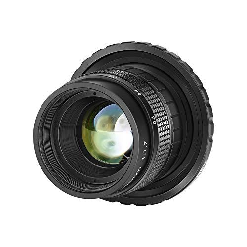Neewer 35mm F1,7 Obiettivo in Alluminio Apertura Grande APS-C Multi-rivestito Focus Manuale per Sony E-Mount Mirrorless NEX-5R NEX6 NEX7 A3000 A3100 A5100 A6000 A6100 A63000 A6400 A6500 A6600