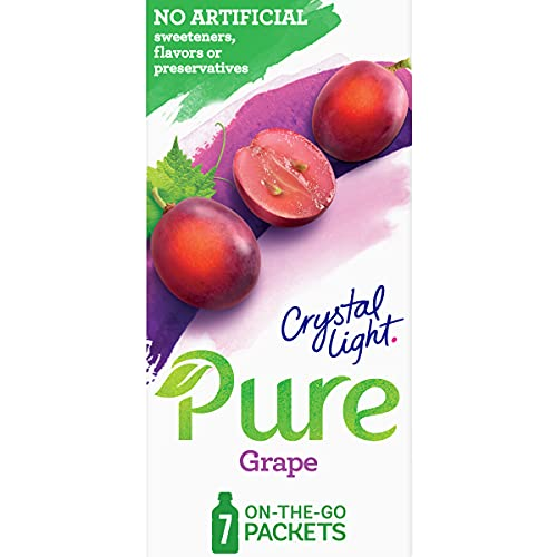 Crystal Light Pure Grape Drink Mix (7 On-The-Go Packets)
