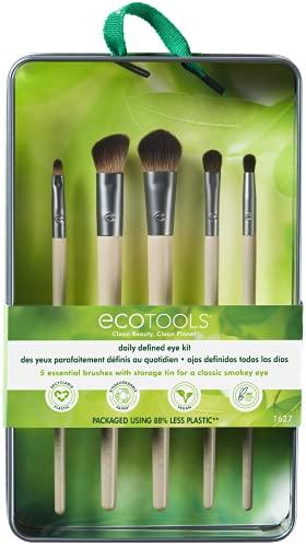 EcoTools® Daily Defined Eye - Juego de brochas para maquillaje de...