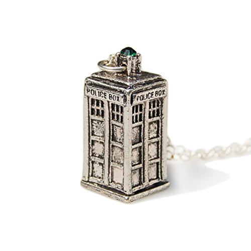 Eastern Jewellery Trading Dr. Who Telephone Box Pendant Necklace