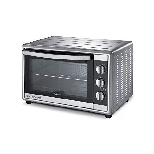 Ariete Bon Cuisine 560 Forno Elettrico Ventilato con Girarrosto da 56 Litri, 2200 W, Argento