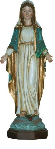 Madonna, Madonna Immaculata Holzoptik, Höhe 40cm