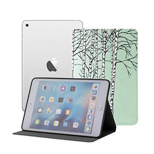 LIANGWE Estuche para iPad Mini Niños Niños Hermoso Bosque de abedules Estuche para el Nuevo iPad Mini iPad Mini 1/2/3 Auto Sleep/Wake con visualización de múltiples ángulos para iPad Min