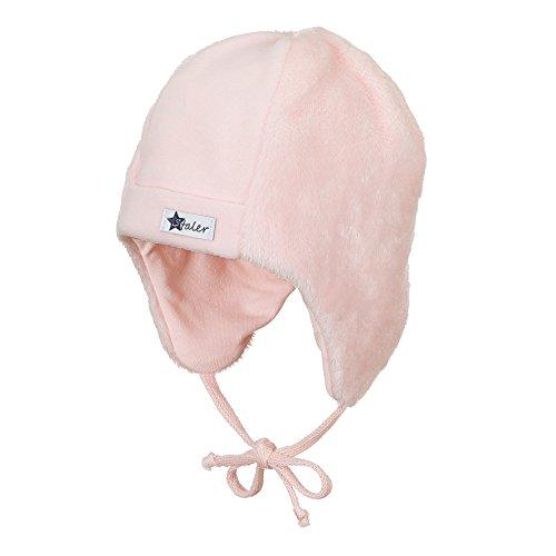 Sterntaler Sterntaler Mütze mit Ohrenlappen und Bindebändern, Alter: ab 4-5 Monate, Größe: 41, Pink (Zartrosa)