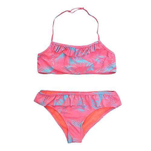 Topgrowth Costumi Bagno Ragazza Bambina Ruched Bikini Set Costumi da Bagno Stampa Swimsuit Costumi Mare Ragazze 7-14 Anni