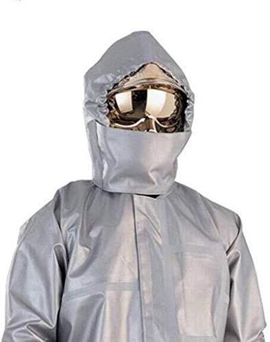 NMYYV Overalls Chemikalienschutzkleidung, Feuerschutzkleidung, Aluminized flammhemmendes Gewebe (Kleidung/Hosen/Kopftuch) Split Anzug