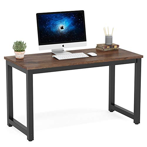Tribesigns Modern Simple Computer Desk, 47 inch Vintage Office Desk Computer Table, Study Writing...