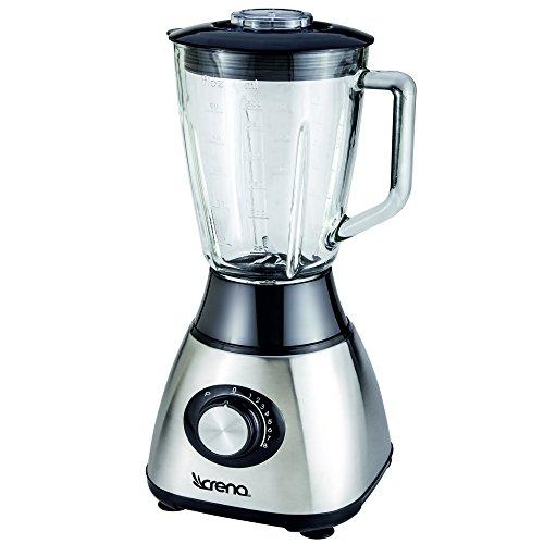 Crena 8734 Batidora de vaso, 600 W, 8 velocidades, 1.5 litros, Vidrio, Metal