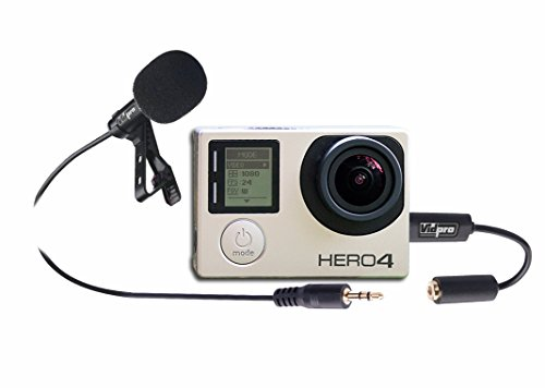Digital Camera External Microphone Compatible with Canon EOS-1D X Mark II DSLR Digital Camera, XM-G Wired Lavalier Microphone, 4' Audio Cable - Designed for use with Action Cameras