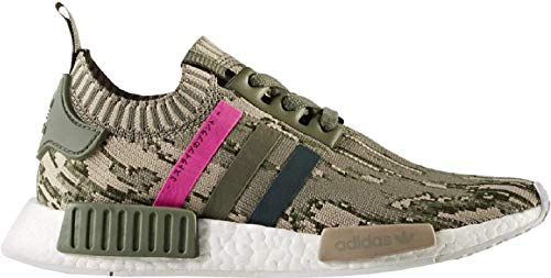 adidas Originals NMD R1 PK Primeknit Boost Schuhe Sneaker camo grün BY9864, Schuhgröße:40 EU