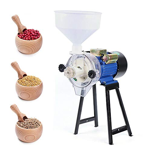 Soybean Grinder Machine Soy Milk Maker Mill Grinder Wet Mill Machine 110V 2.2KW Electric Grain Wet Feed Flour Milling Machine Cereals Grinder for Rice Corn Grain Soybean Wheat with Funnel (B) -  HG-2133-US