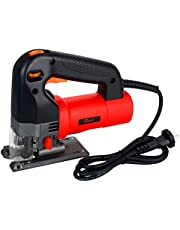 Festnight Electric Jig Saw 750W Multifunctional Electric Curved Saw Household Electric Sawing Cutting Machine Portable Electric Cutter Electric Woodworking Tool