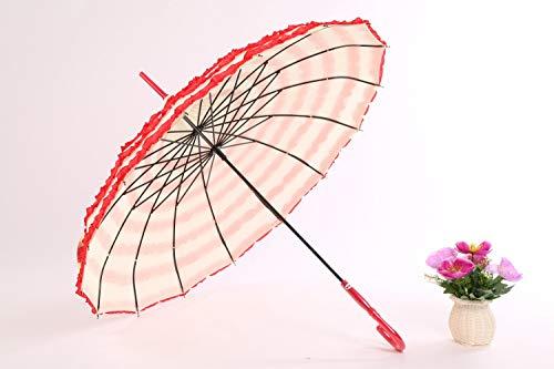 Kant pagode paraplu creatief paleis rood bruiloft paraplu Korea prinses paraplu