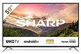 Sharp TV LED Ultra HD 4K 126 cm 50BL2EA HDR Android TV, Fluidité 600 Active Motion, A+, WiFi intégré, Noir