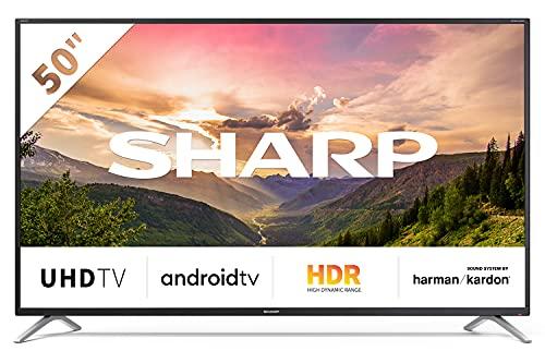 SHARP Android TV 50BL2EA, 126 cm (50 Zoll) Fernseher, 4K Ultra HD LED, Google Assistant, Amazon Video, Harman/Kardon Soundsystem, HDR10, HLG, Bluetooth