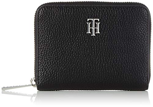 Tommy Hilfiger Womens TH Essence MED ZA Wallet Small Leather Goods Black One Size