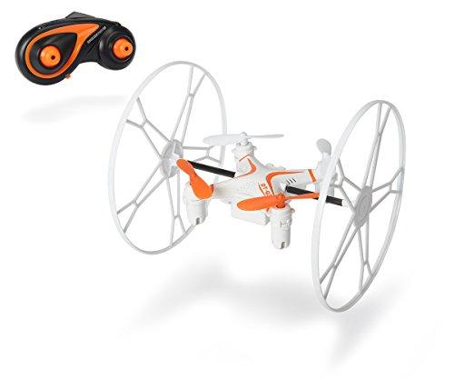 Dickie Toys 201119433 - RC Q31 3 in 1 Quadrocopter, funkferngesteuerter Quadrokopter mit Flug- und Fahrmodus, 10 cm