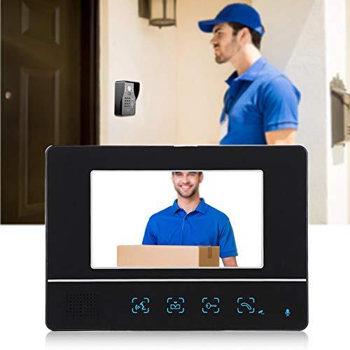 Timbre con Video, intercomunicador con Video, Volumen del intercomunicador Interior Mudo Brillo y Contraste Desbloqueo retardado Ajustable(Transl)
