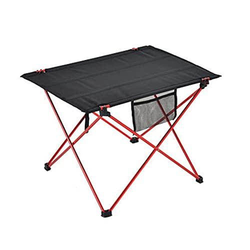 XUMI Mesa Plegable portátil para Acampar al Aire Libre, hogar, Barbacoa, Picnic, Mesa de Almacenamiento de aleación de Aluminio Ligera, Mesa Plegable de Pesca