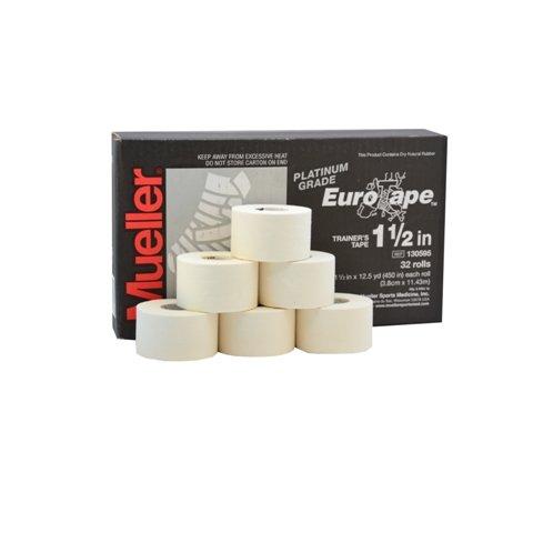 Mueller Platinum Grade Eurotape | Sporttape Weiß | 6 Rollen á 3,81 cm x 11,43 m | Tape