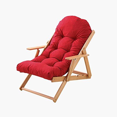 FEIFEI Fauteuils inclinables Chaises inclinables inclinables de chaise longue de chaise de jardin de chaise de jardin avec 3 positions réglables Pliant (Couleur : Rouge, taille : Chair)