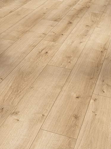 Parador Modular One - Bodenbelag Eiche Pure Hell - Elastischer Bodenbelag in Holz-Optik, schallgedämmt, mit Klick-Verlegung - ohne Weichmacher - 1285 x 194 x 8 mm
