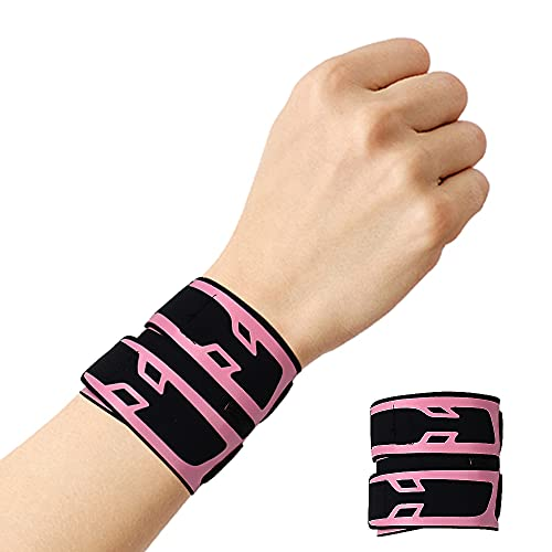 Milec Handgelenkbandage, Verstellbare Kompressions-Handgelenk Bandagen Elastische Handgelenkschoner, Handgelenkschutz zum Schutz beim Sport, Gewichtheben, Fitnessstudio - Einheitsgröße / Rosa