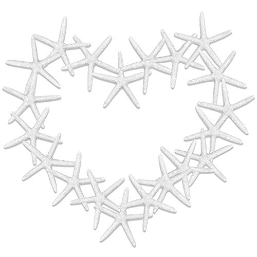 30 Pieces Simulation of White Resin Starfish for Home Decor Wedding Decoration and Handicraft Projects(8 cm)