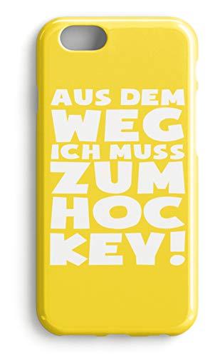 shirt-o-magic Handyhülle Hockey-Fan: Ich muss zum Hockey - Case -iPhone 8 Plus-Gelb