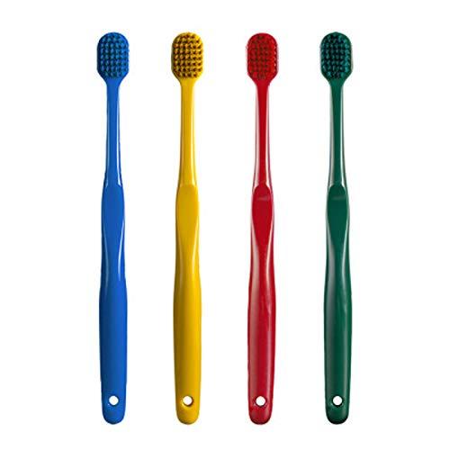 SWWS Cepillo de dientes Equipo Dental Artículos de Cuidado Oral Artículos de tocador Suministros de limpieza Cepillo de dientes manual, Embalaje individual de 4 colores, Limpieza profunda