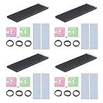 Unxuey 4Pcs Set 2.75 x 0.86 x 0.11 inch Black SSD Solid State Hard Drive Heat Sink Dissipation Radiator Aluminum Heatsink with Thermal Pad for SM951, XP941, Magnesium MX200, Alien, CPU, PCB,etc