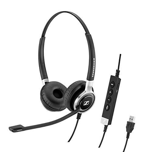 SennheiserSC660ANCUSB(508311)-両面(双眼鏡)ビジネス用ヘッドセット|ビジネス用スカイプ|HDサウンドアクティブノイズキャンセリングマイクUSBコネクター(ブラック)