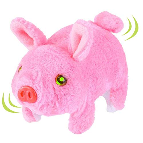 ArtCreativity Walking Pig Toy That Oinks, Wiggles, and Lights Up, Battery Operated Oinking Piggy with Moving Tail and Nose, Interactive Piglet Pet Toy for Kids, Best Gift for Boys and Girls